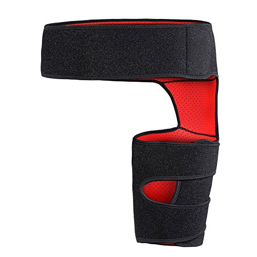 Giision Groin Support,Adjustable Neoprene Groin Strain Pain Wrap Compression Recovery for Groin Hip Thigh Quad Hamstring Joints Sciatica Nerve Pain Relief Strap by Giision (Image #2)