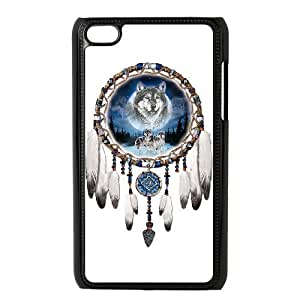C-EUR Customized Phone Case Of Wolf Dream Catcher For Ipod Touch 4