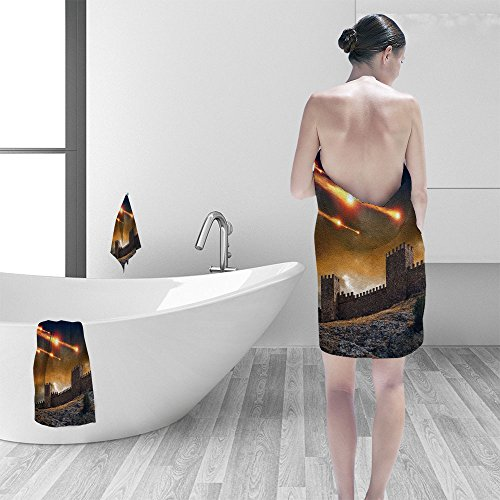l set Dra ic background old fortress tower under attack Dark stormy sky asteroid meteorite impact 3D Digital Printing No Chemical OdorEco-Friendly Non Toxic (Dark Fortress Set)