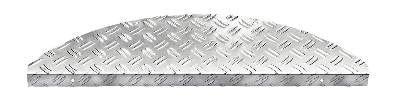 F & S marchettes d'escalier en aluminium de haute qualité 17.5 x 60 cm. En set de 15 pièces. Fabriqué en Europe