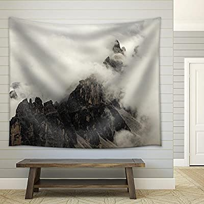 High Mountain Cliffs in The Dolomites Fabric Wall, Made to Last, Fascinating Composition