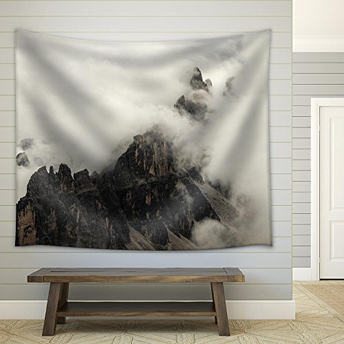 High Mountain Cliffs in The Dolomites Fabric Wall