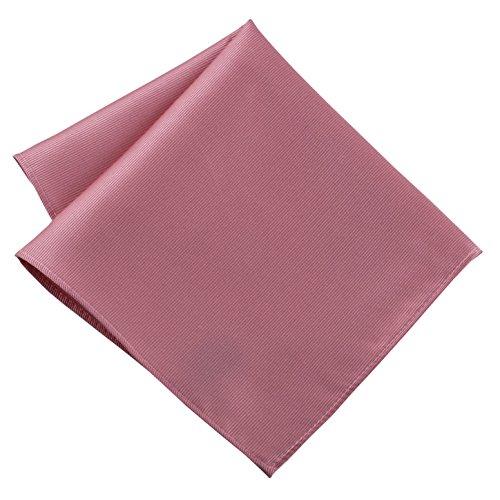 100% Silk Woven Pink Pocket Square Handkerchief by John William
