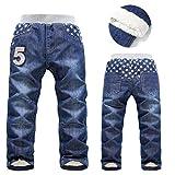 Winter Thick Fashion Boys Pants Kids Trousers Girls Baby Children Jeans SL1581 4