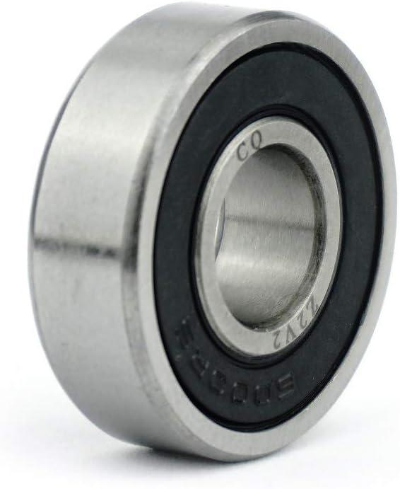 6000 2RS EMQ V2//Z2 Premium Precision Bearing ABEC-3-10 x 26 x 8 mm 6000RS XHP222 Grease c CQ