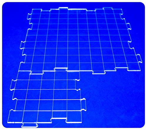 Interchangeable Clear Battle Tiles Great for D&D and RPG Games Combo Pack ~ 5-Small, 3-Big ()