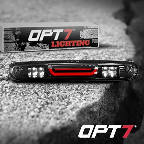 OPT7 07-13 Silverado/Sierra Tube LED 3rd Brake Light Cargo Light Upgrade- Tube/Smoked housing Runner Series-High Power Cree XM