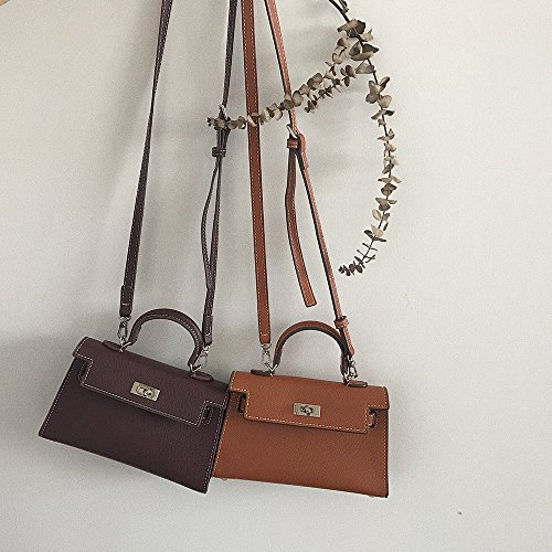 de PU Hombro WXINTemperamento única Light Bolsa pequeña Bolsa Retro Verano Brown WXIN Pure bolsita de Color TqwaAP