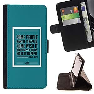 - Queen Pattern FOR Sony Xperia Z2 D6502 /La identificaci????n del cr????dito ranuras para tarjetas tir????n de la caja Cartera de cuero cubie - teal mint green poster make it hap