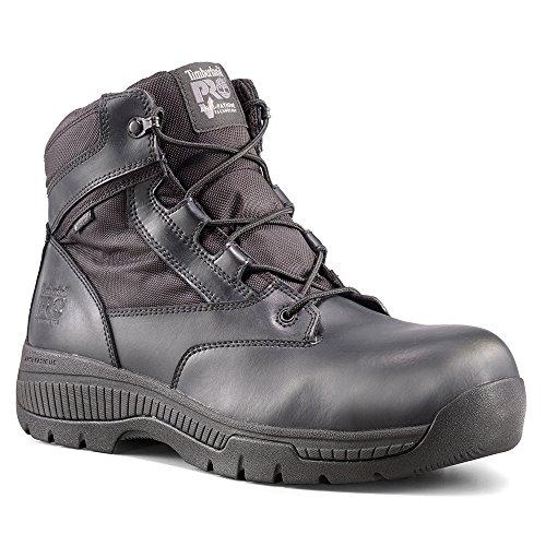 Timberland Mens Pro Valor Tull 6 Ct Wp Sida-zip Svart Mjukt Läder / Nylon 6 W