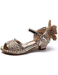 586b4f6ea16ff7 ... Girls Peep Toe Princess Butterfly Kitten Heels Glitter Sandals first  rate 979e4 81e4c ...