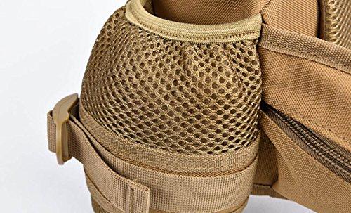 FZHLY Bolsillos Aire Libre Que Monta Los Hombres Bolsillos Moda Camuflaje Multi-funcionales,Black Camouflage