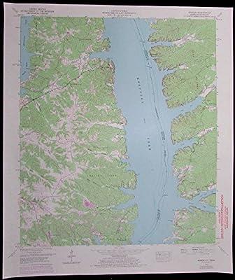 Hamlin Kentucky Tennessee Kentucky Lake vintage 1972 old USGS Topo chart