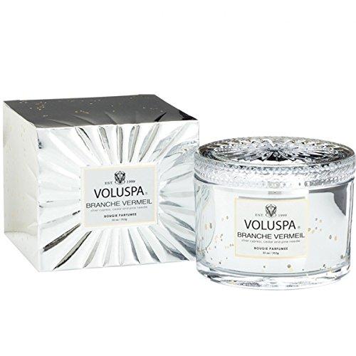 世界的にコットン保持Voluspa ボルスパ ヴァーメイル ボックス入り グラスキャンドル フ?ランチヴァーメイル BRANCHE VERMEIL VERMEIL BOX Glass Candle