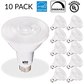 Sunco Lighting 10 PACK - PAR20 LED 7 WATT (50W Equivalent), 2700K Soft White, DIMMABLE- Indoor/Outdoor Lighting, 470 Lumens, Flood Light Bulb- UL LISTED