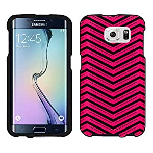 Samsung Galaxy S6 Case, Snap On Cover by Trek Red Wide Style Chevrons Black Case