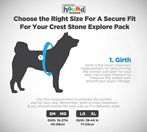 Crest Stone Explore Dog Backpack Hiking Gear For Dogs by Outward Hound, Small/Medium