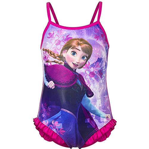 Frozen Printed One Piece Bathing Suit (Fushia, 8 Years) (One Swimsuit Piece Disney)