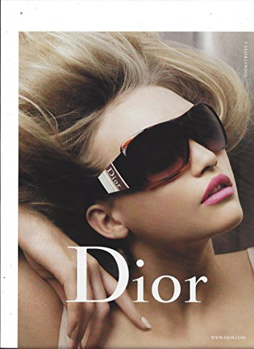 **PRINT AD** With Gemma Ward For Dior Logo Frame Eyeglasses **PRINT - Dior Logos