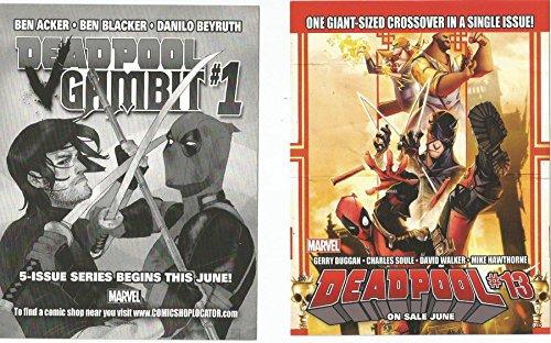 Deadpool #13 Deadpool #1 POST CARD SD Comic Con 2016 (Best Deadpool Graphic Novels)