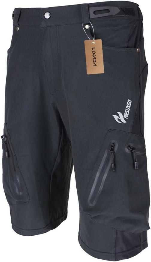 M/änner Fahrradhose Atmungsaktiv Radhose Schnelltrocknende MTB Hose Wasserabweisend Outdoor Hosen Lixada Herren Kurze Hosen