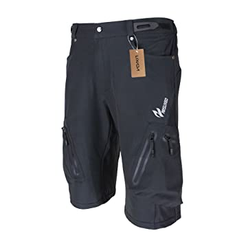 Men s Bicycle Shorts ,Breathable Mountain Bike Shorts Lightweight and Baggy  MTB Shorts for Outdoor Cycling 40e15fda6