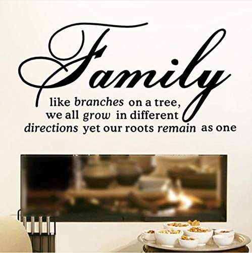 hwhz 44X22 cm Family Like Branches On A Tree Quotes Wall Stickers Vinyl Art Wall Decal Self Adhesive Wallpaper Text Home Decor Living Room