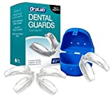 Facial Pain Bruxism - Dental Mouth Guard - Stops Teeth Grinding, Clenching and for Pain Relief - Anti-Grinding Night Guards to Eliminate Bruxism and TMJ - Dentist Approved - Custom Fit - Pack of 3 + Antibacterial Case