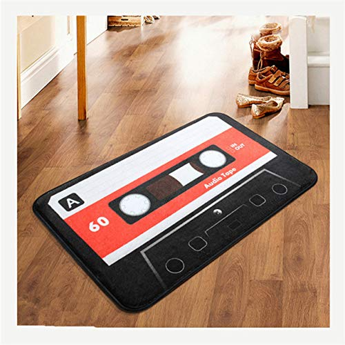 Creative Magnetic Tape of European and American Vintage Door Into The Carpet Door Mat Personality Fashion Mat Modern Room Rug,Magnetic TapeA,500MMx800MM
