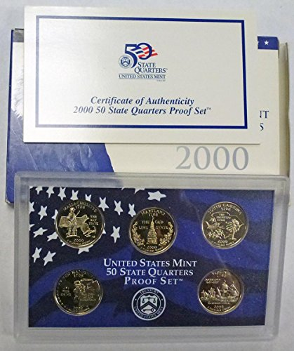 2000 S Statehood Quarters Proof Set Original Mint