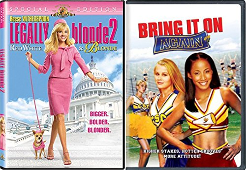 Women Power Comedy Bundle: Bring It On Again & Legally Blonde 2: Red, White & Blonde 2-Movie Set (What Guys Like On Valentines Day)