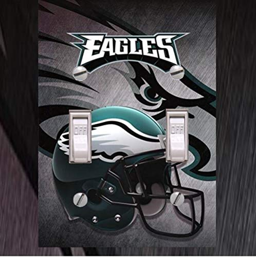 TLC Corner- Philadelphia Eagles Double Toggle Lightswitch Wallplate Cover