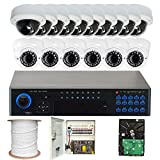 GW Security VD16CHP22 32-Channel DVR Security System 16 x 1/3 Inches Sony CCD Camera, 700 TV lines, 2.8 to 12mm Varifocal Lens (Colorful)