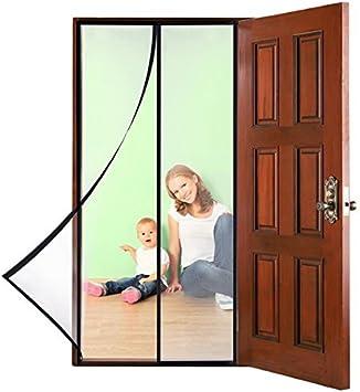 Magnético Mosquitera para puerta, upkin 110 x 220/90 X 210 cm magnético Mosquitera cortina Mosquitera para puerta cortina para puerta para balcón/Sótano Puerta/Terrazas Puerta/puerta corredera (sin agujeros): Amazon.es: Bricolaje y herramientas