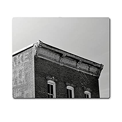 B038;W Worn Out Building Mousepad Gaming Mouse Pad 10 8 Inch