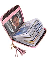 Credit Card Holder Genuine Leather Credit Card Case Fashion Wallet RFID Blocking Credit Card Protector Cards Organizer 40 slots