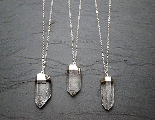 - Raw Quartz Crystal Necklace