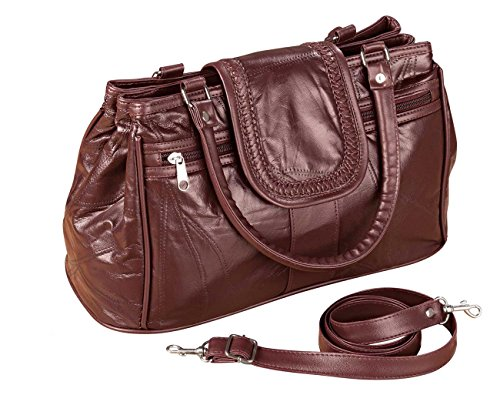 Miles Kimball Burgundy Leather Handbag