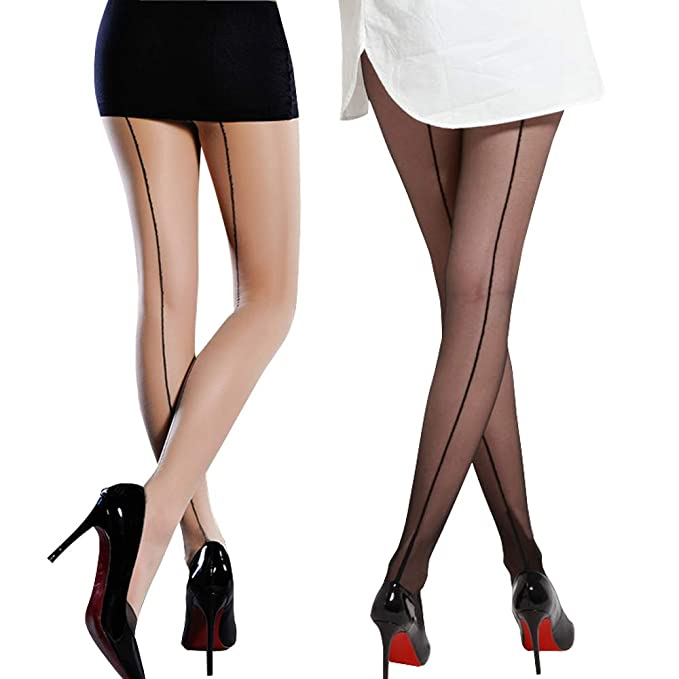 4e93b76698812 Value Package!2 Pack Sexy Sheer Stretchy Fashion Pantyhose Stockings Come  With Pretty Iron Box