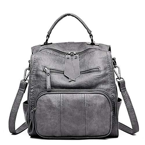 sac cuir sac sac femmes dos voyage bandoulière Gensotrn Gray femme En école sac dos 5HWqc4Yz
