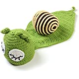 Green Snail Knitting Suits Baby Photography Prop Knitted Crochet Costume Hat Caps