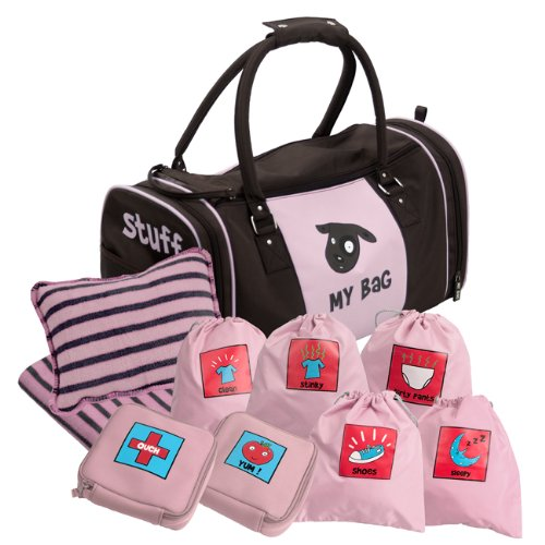 Kushies My Bag The Ultimate Daycare/Overnight Bag, Girl Brown/Pink