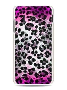 "GRÜV Premium Case - ""Pink Leopard Cheetah Skin Pattern"" Design - Best Quality Designer Print on White Hard Cover - for Huawei Ascend Y300 U8833 T8833"