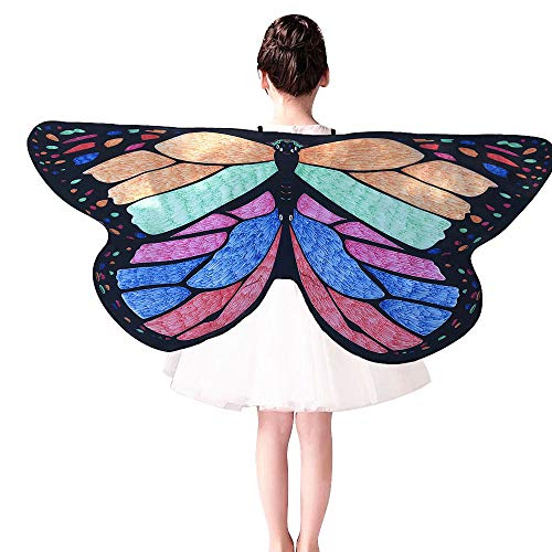 iLXHD Kids Child DIY Butterfly Cape Wings Creative Angel Wings Dress up Costume -