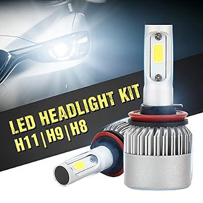 LED Headlight Bulb Conversion Kit H11(H8 H9) H7 9005 9006,36W 8000Lm 6500K Cool White+1Yr Warranty?1pair?