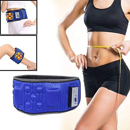 Slimming Belt,Fencia Electric Weight Lose Magnet Belt Electric Vibrating Slimming Belt Massage Waist Slimming Exercise Leg Belly Fat Burning Heating Abdomen Massager