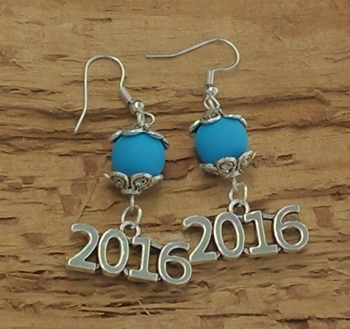 2016 Bling Graduation/New Years Earrings - Matte Lt. (Matte Willow)