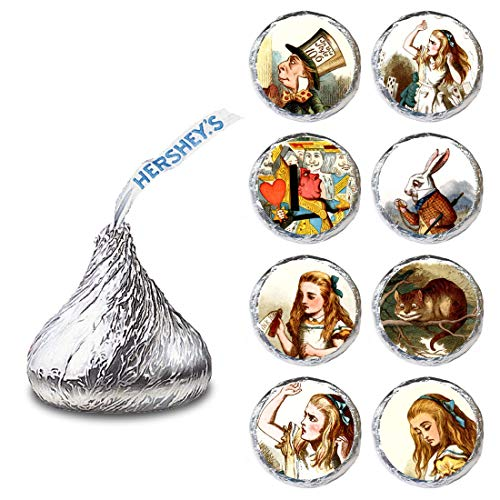 - Alice in Wonderland Label for HERSHEY'S KISSES® chocolates - Candy Stickers Party Favor - Set of 240