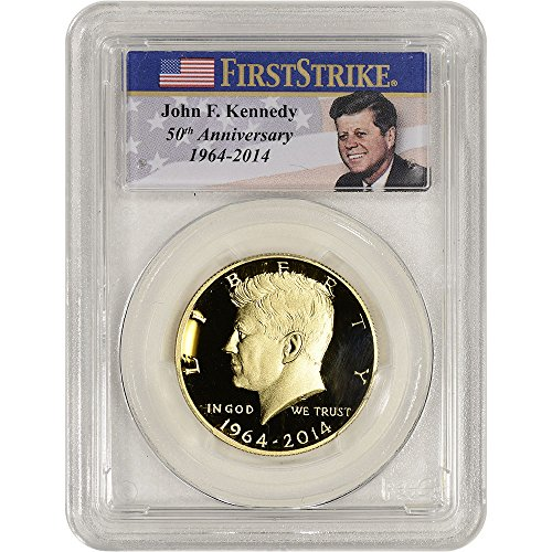 2014 W US Gold Kennedy Proof (3/4 oz) First Strike Photo Label Half Dollar PR69 PCGS DCAM