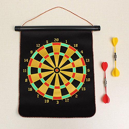 新しい両面安全磁気Dart Board With 4Pcsダーツターゲットゲームおもちゃ